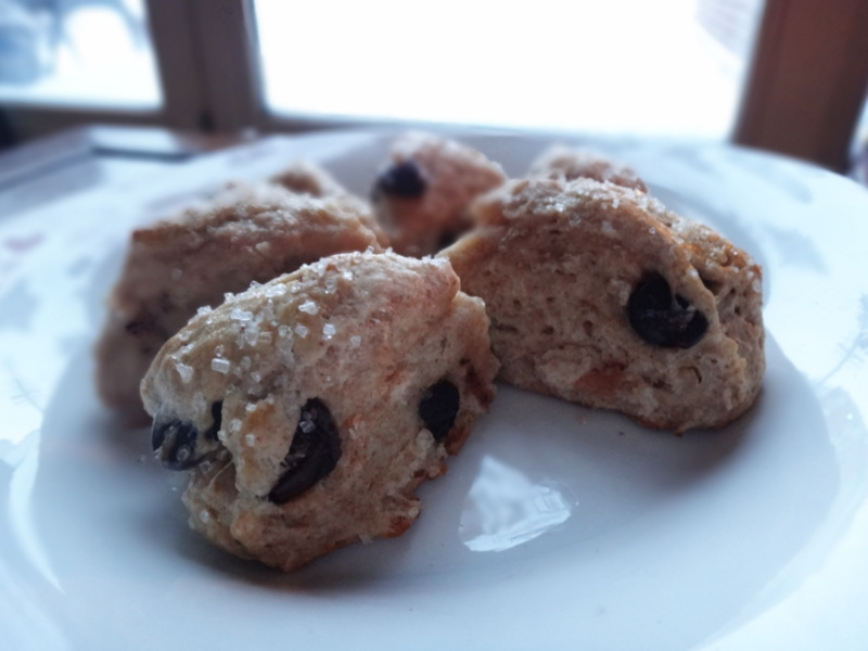 Badger Kitchen: Skinny Mini Buttermilk Scones with Dark ...