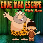 Games4King Cave Man Escape With Son Walkthrough