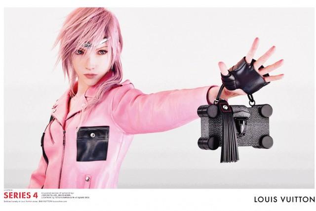 Lightning de Final Fantasy Modelo Virtual en la campaña Primavera Verano Louis Vuitton 2016