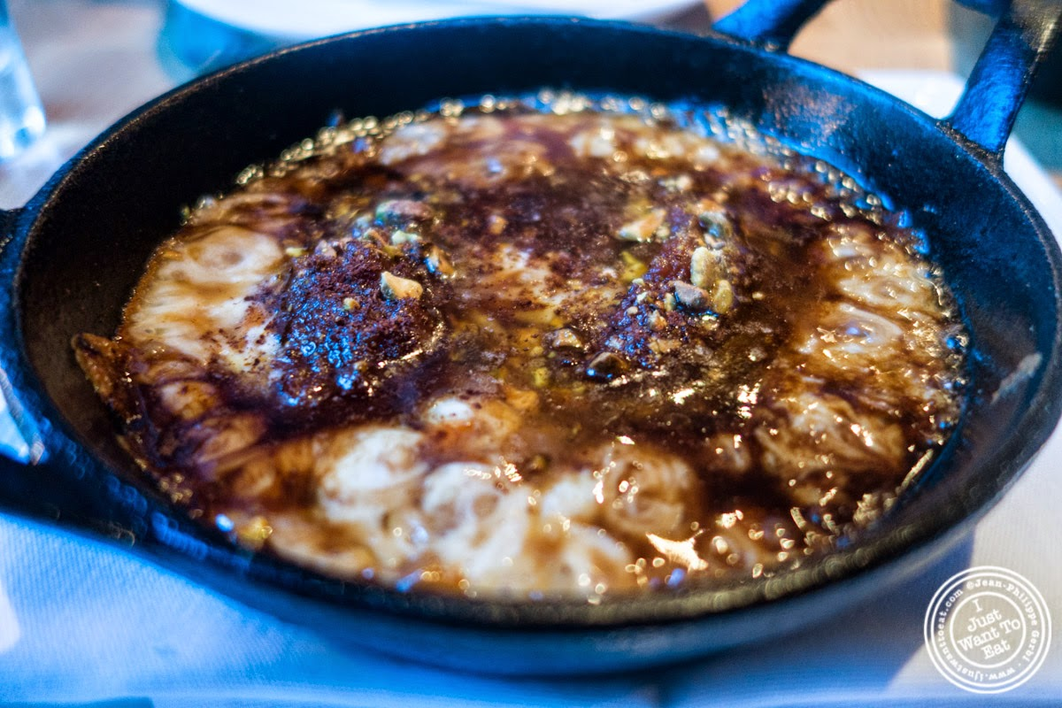 image of saganaki at Snack EOS in Hell's Kitchen, NYC