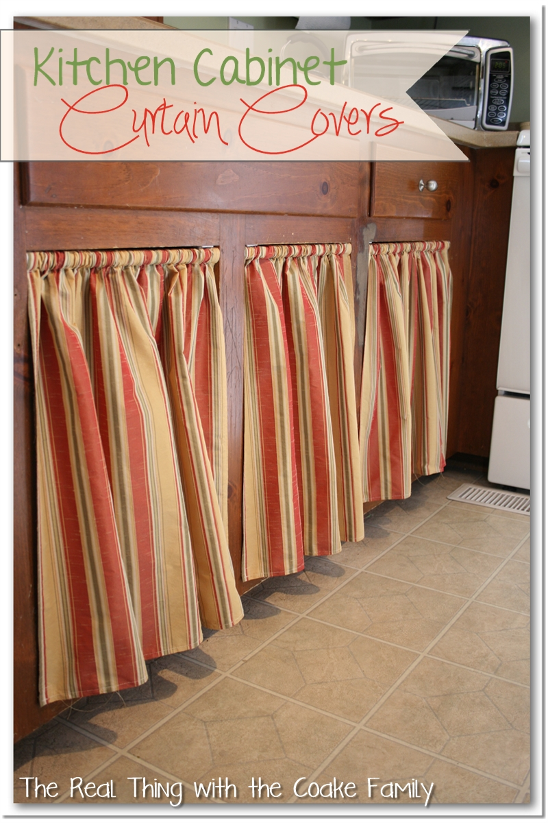 Kitchen Cabinets No Doors kitchen cabinet ideas: curtains for cabinet doors - the real thing
