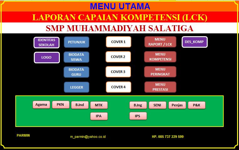 APLIKASI RAPORT KURIKULUM 2013 Tingkat SMK