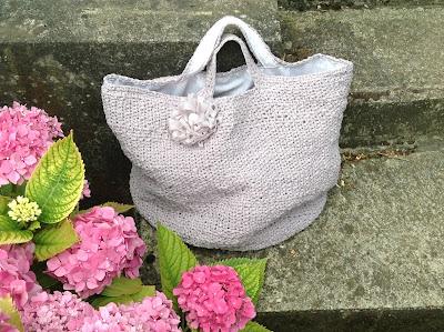 Crochet tote bag on Etsy and Dawanda