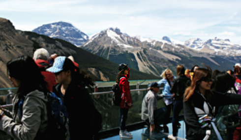 glacier skywalk alberta rocky mountains travel photography