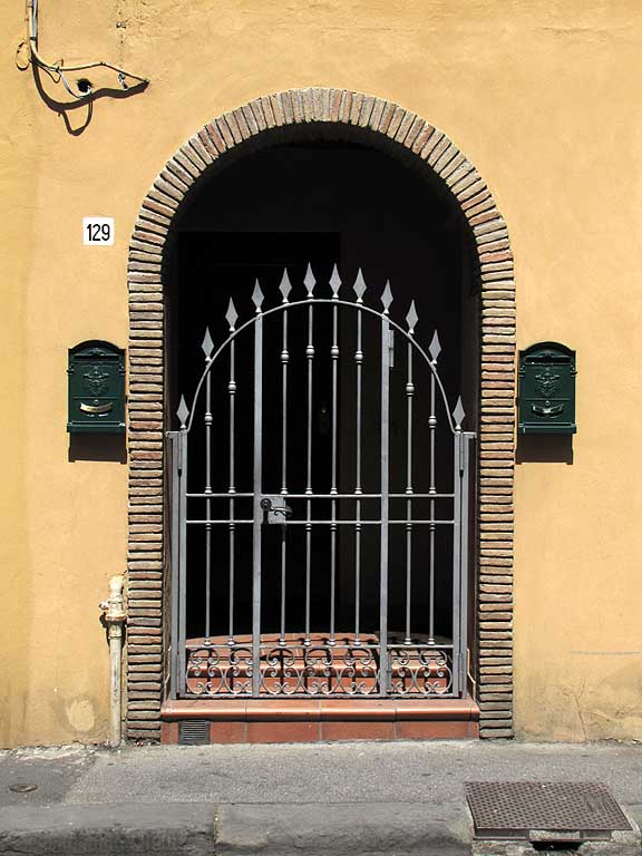 Iron gate before the front door, Livorno