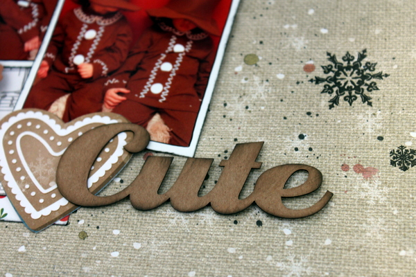 Cute Scrapbook Page by Ulrika Wandler using BoBunny Dear Santa Collection