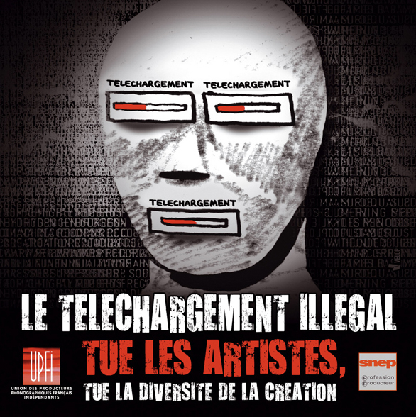 Sticker contre le téléchargement by Velop