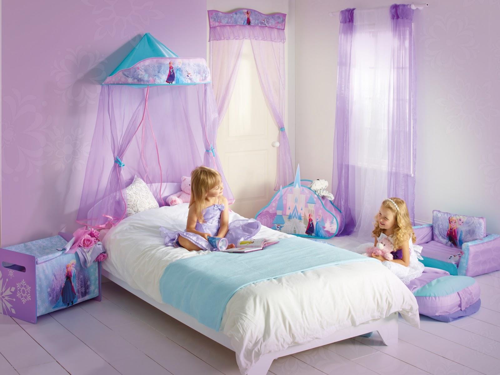 Desain Foto Dinding Kamar Tidur Frozen Anak Perempuan Remaja