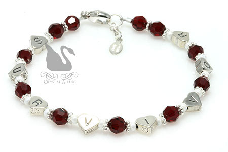Jeannette's Custom Heart Transplant Awareness Survivor Bracelet (B173-HRT)