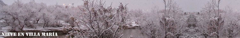 Nieve en Villa María