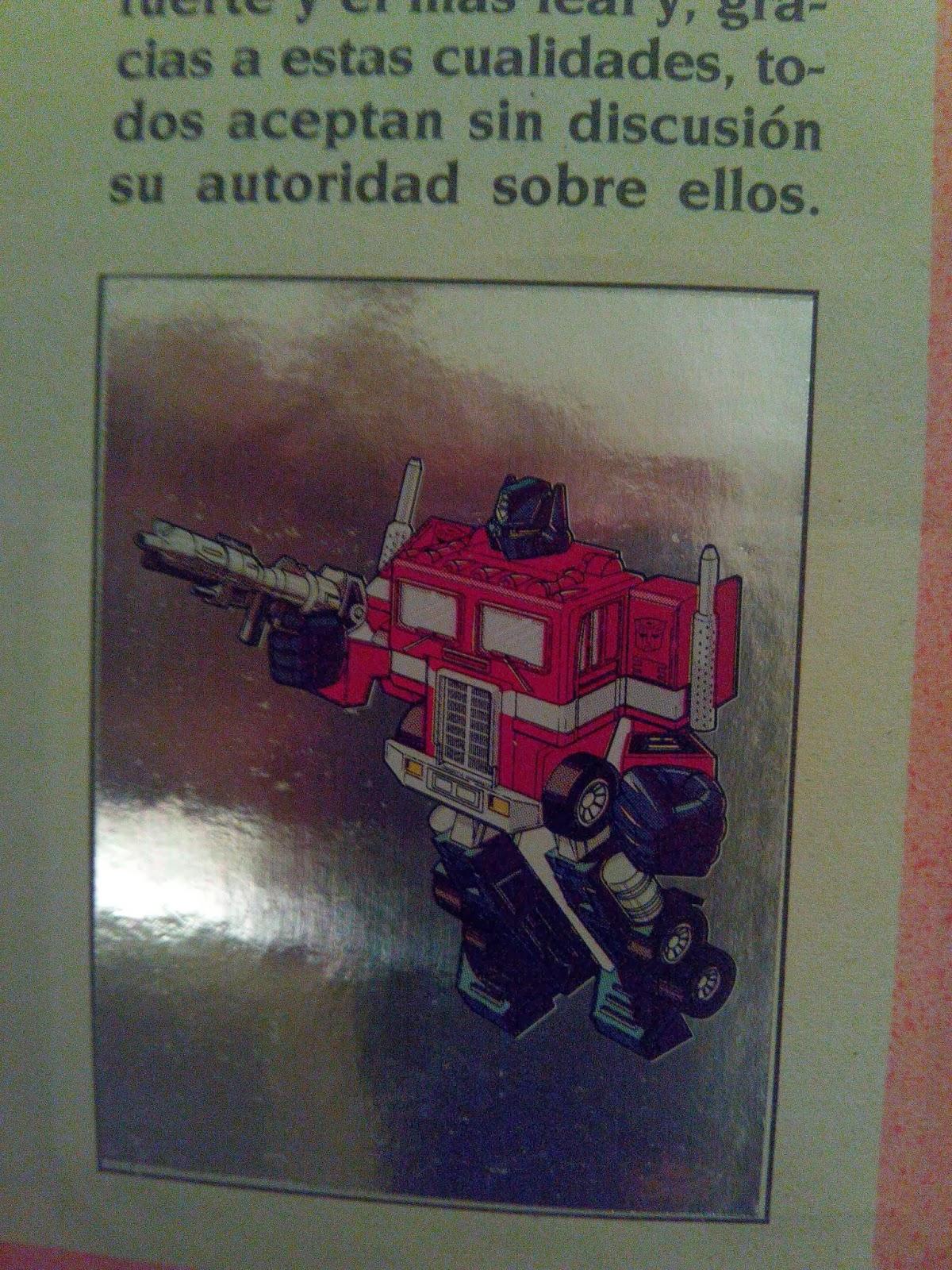 Optimus Prime con fondo plata