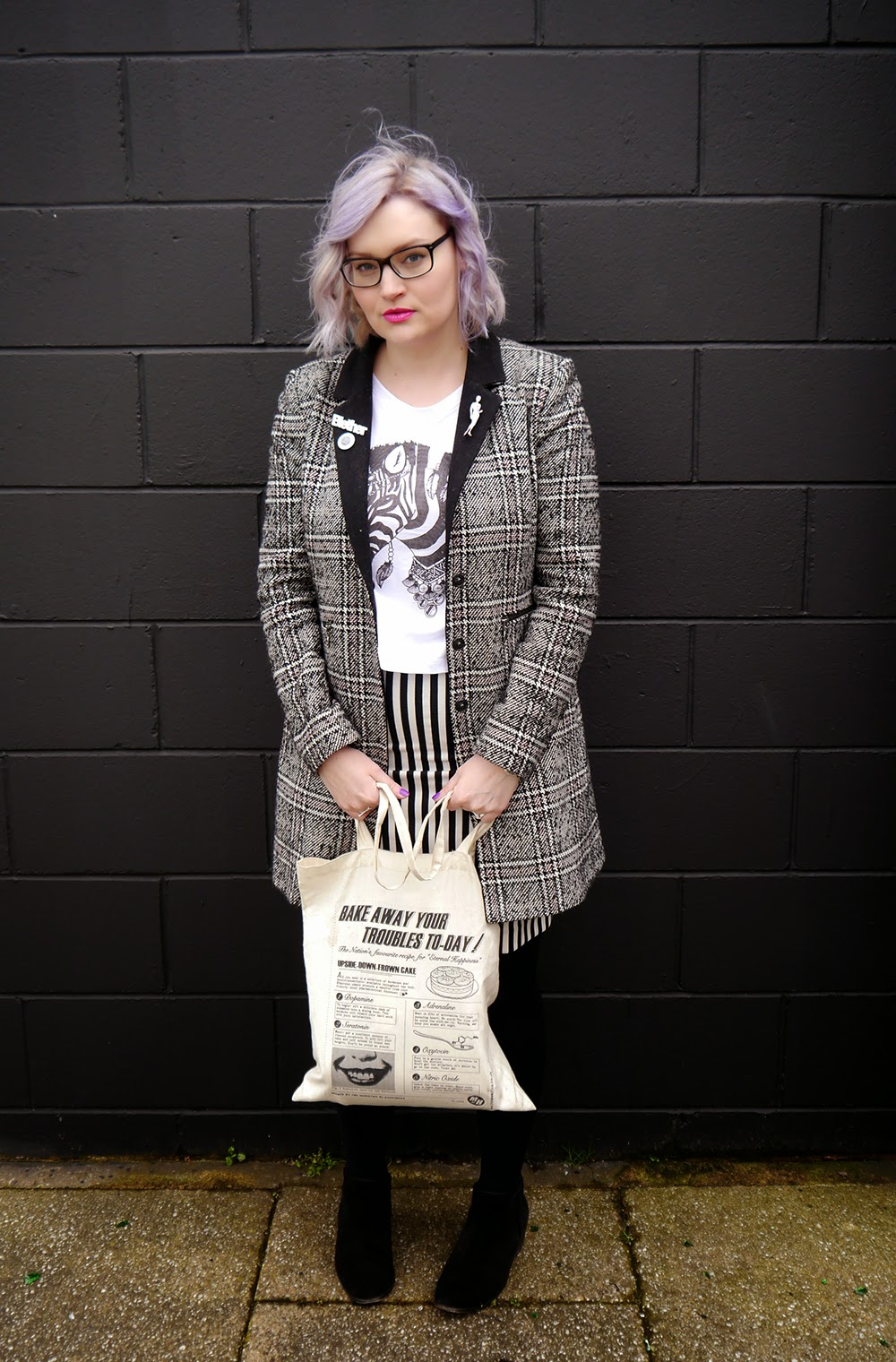 Glasgow, merchant city, the Clyde, plaid, Scottish blogger, style blog, blether, violet hair, purple hair, how to,