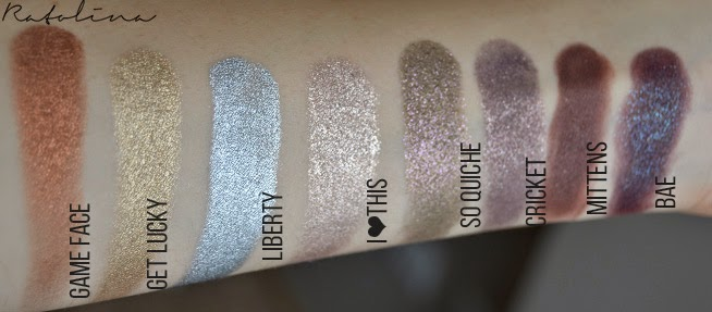 ColourPop Colour Shock eyeshadows swatches