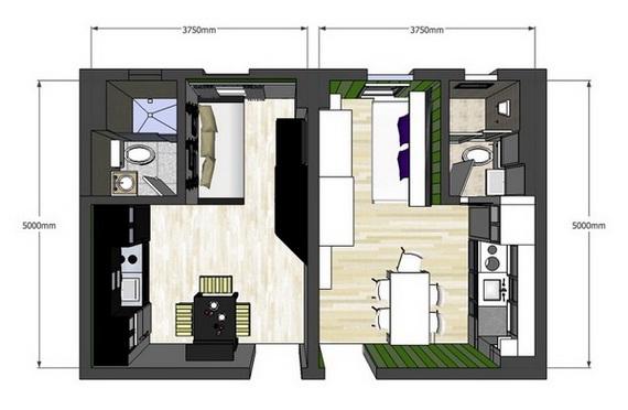 decora y disena 2 apartamentos de 20 metros cuadrados con
