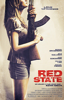 Red State, poster, affiche, Kevin Smith, Zack, Miri, make a porno, Jennifer's Body, The Haunting, Kyle Gallner, Michael Parks, John Goodman, article, test, critique, geekmehard, geek me hard, Kerry Bishe