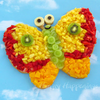 Earth Day Butterfly Fruit Pizza