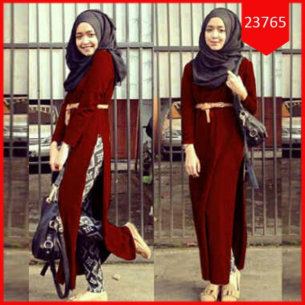 Busana: Baju Hijab Long Dress Revilla (BBB-066)