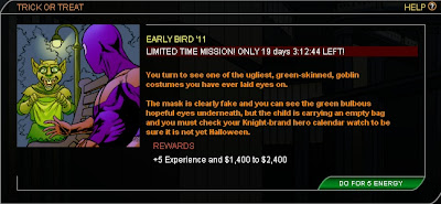 Early Bird Halloween mission at Superhero City