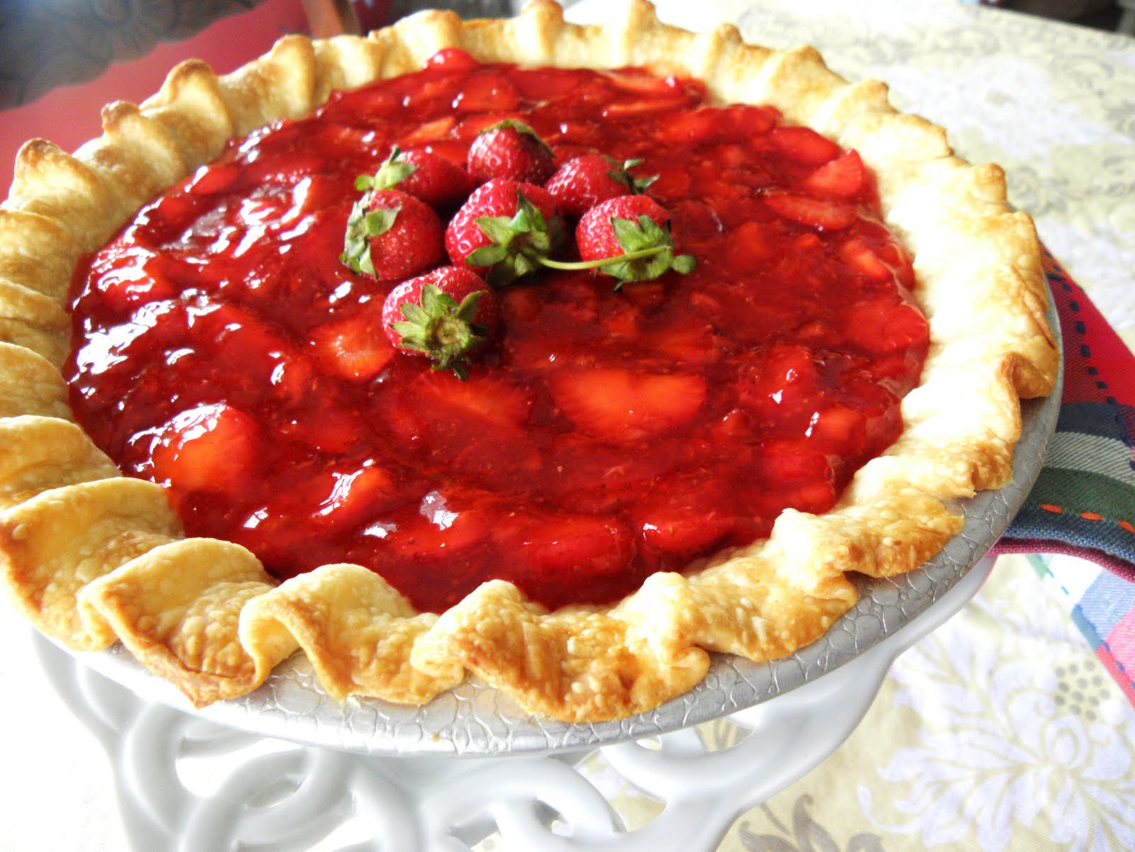 The Cozy Little Kitchen: Fresh Strawberry Pie