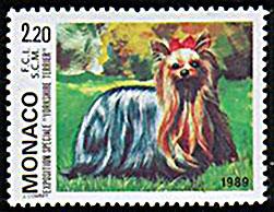 1989年モナコ公国 ヨークシャー・テリアの切手