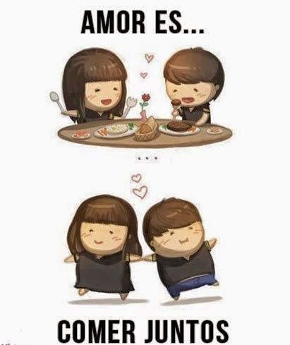 el amor engorda