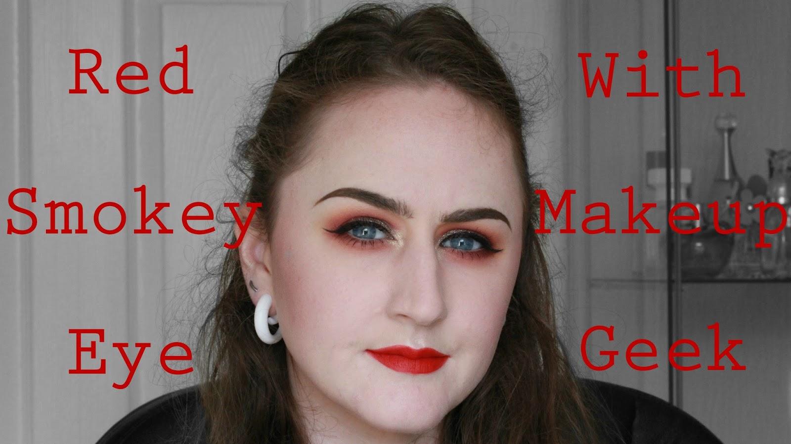 Nothing Rhymes With Rachel Red Smokey Eye With Makeup Geek