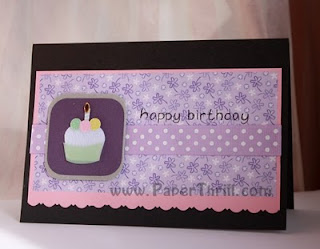 Cute handmade birthday cupcake card