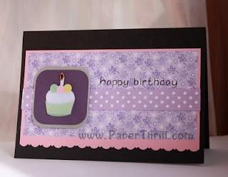 Cute handmade birthday cupcake card