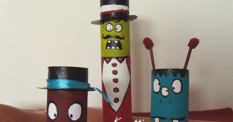 Mostrini per halloween con tubi di cartone kreattivablog for Tubi cartone