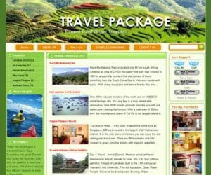 Travel Package Blogger Template