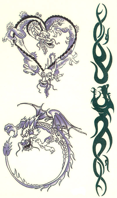 Tribal Dragon Tattoos Still