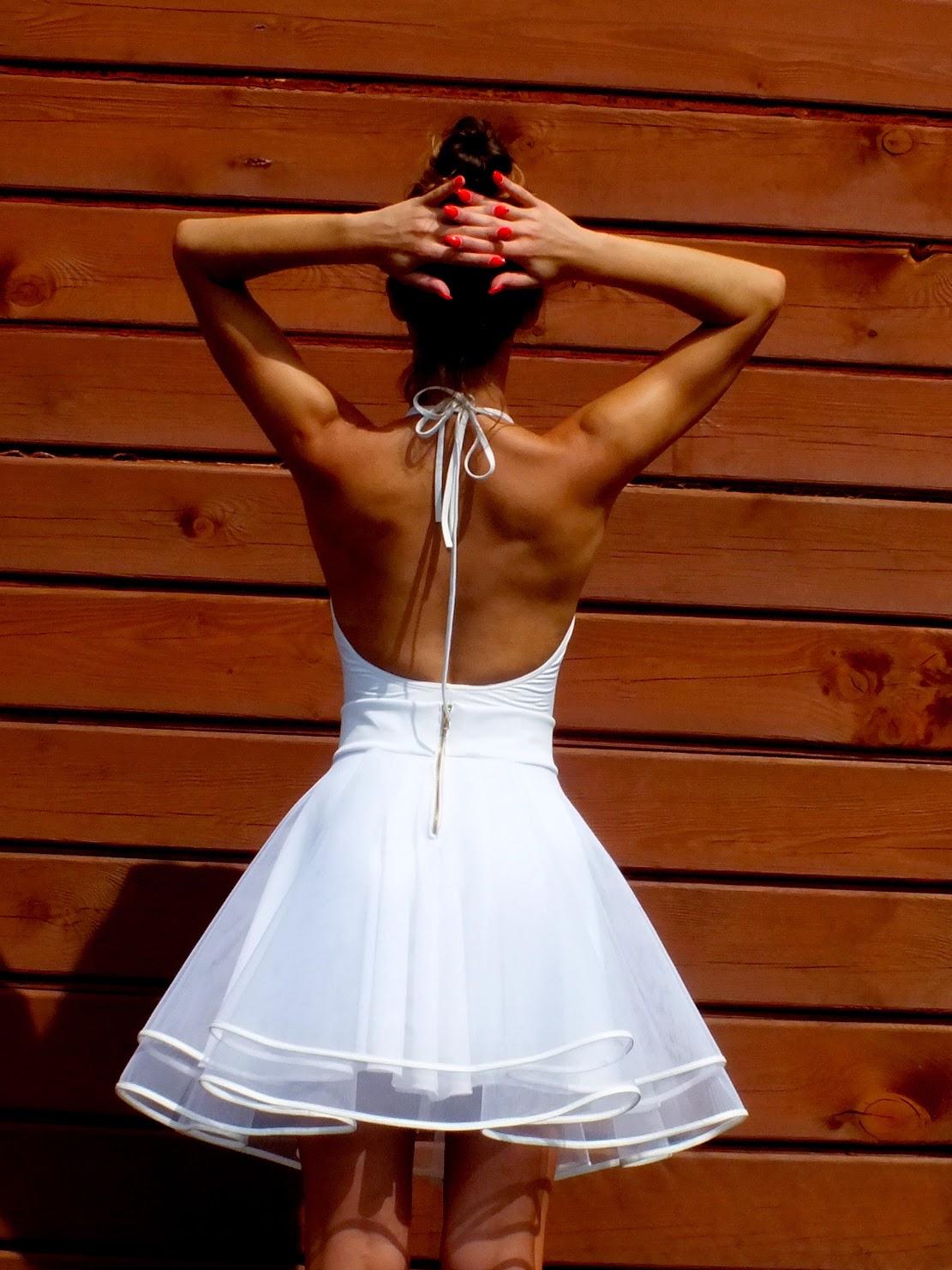 spódnica tiulowa z koła, biała spódnica tiulowa, oryginalna spódnica z tiulu