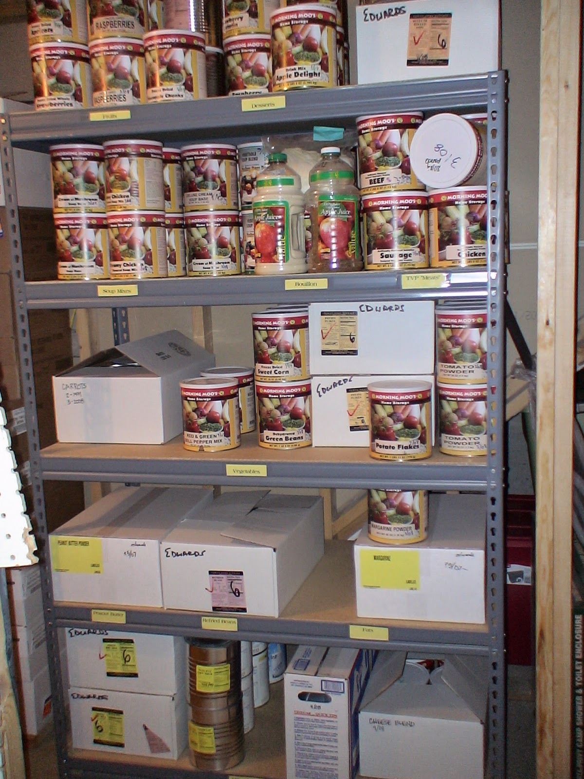 (3) Long-term foods (buckets and/or #10 cans) & Purpose Driven Motherhood: Seven Ideas for Organizing Your Food ...