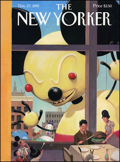 illustration of the thanksgiving day parade by William Joyce for the New Yorker magazine