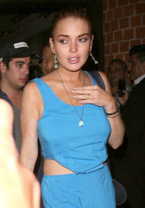 Lindsay Lohan Dines Out » Gossip | Lindsay Lohan