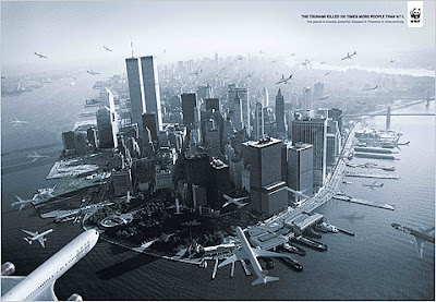 WWF censored brazilian ad tsunami 9/11