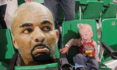 Carlos Boozer's head makes a child cry