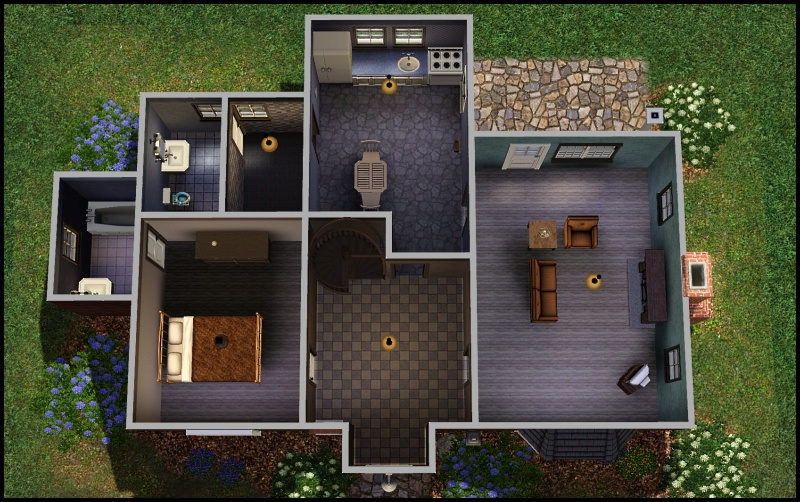 My Sims 3 Blog Two Starter Cottages The Durwin The