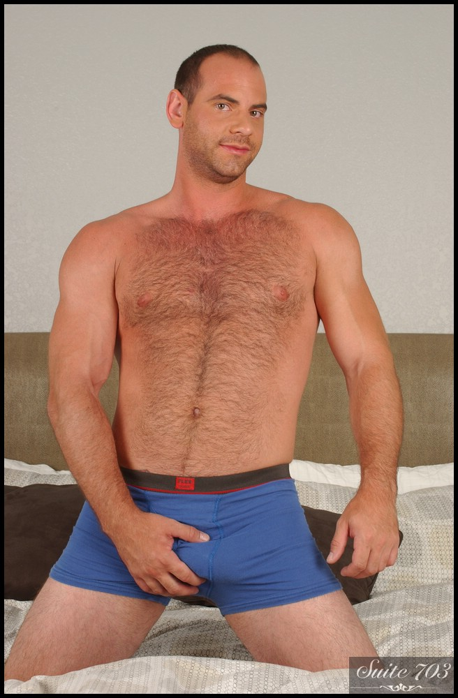 hairy model girth brooks gets ready for bed at suite 703 porntube