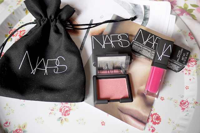 nars makeup blush flatlay