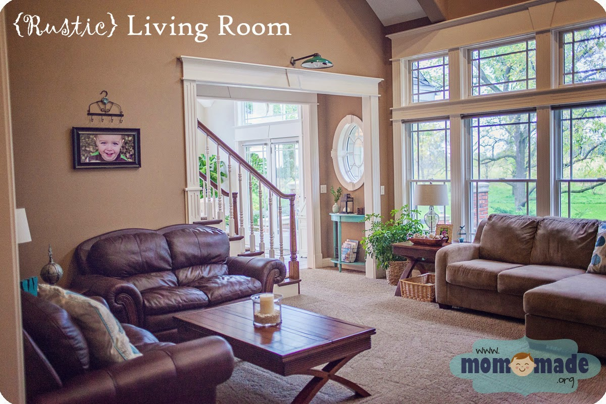 Rustic Living Room Tour by Mom-Made