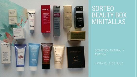 SORTEO BEAUTY BOX MINITALLAS COSMETICA NATURAL Y ASIÁTICA