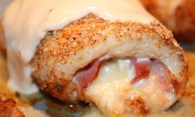 صدور الدجاج المحشية بالجبنة