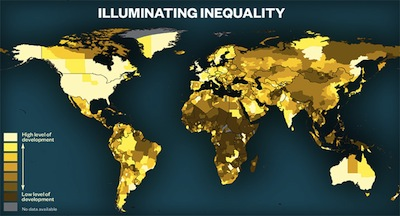 illuminating inequality this map shows the levels of poverty throughout the worldmap by 5w infographics map source by earth observation group noaa national geophysical data gumiabroncs Choice Image