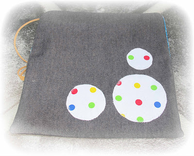 image craft tool pouch polka dot rainbow white black red green yellow blue crochet hooks jewellery pliers