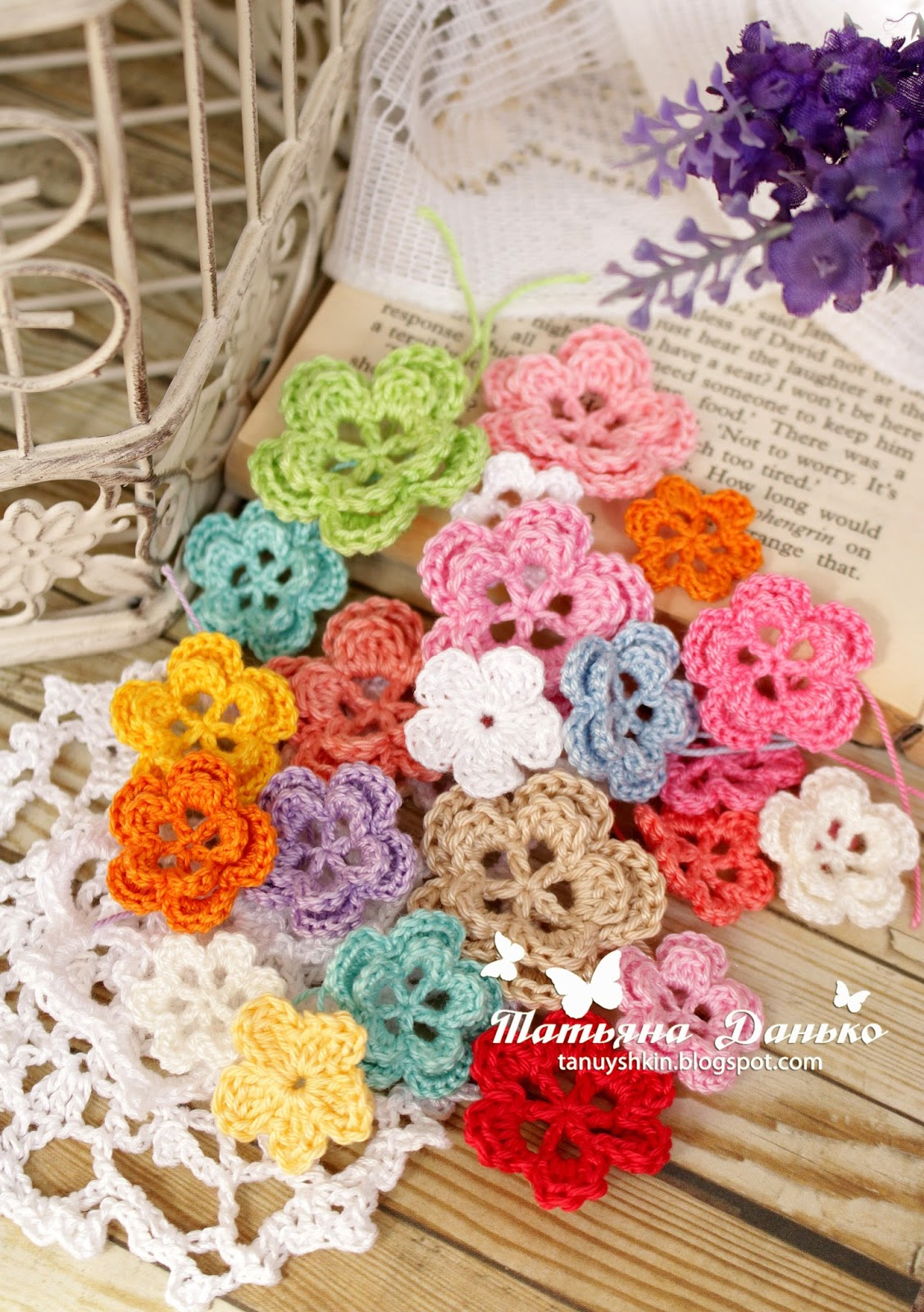 Магазин вязаных цветочков Танюшки Данько