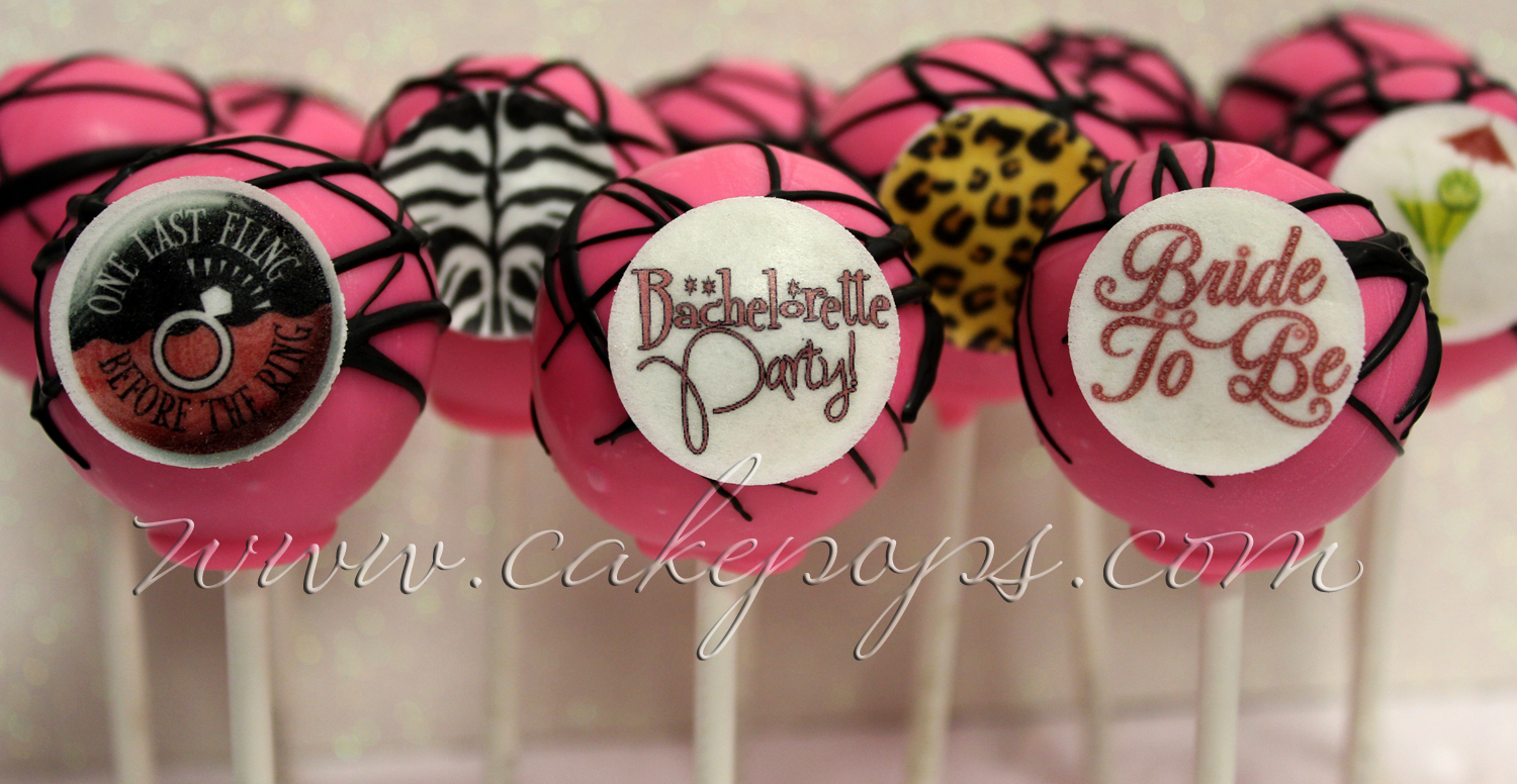 Pink Cheetah Cake Pops