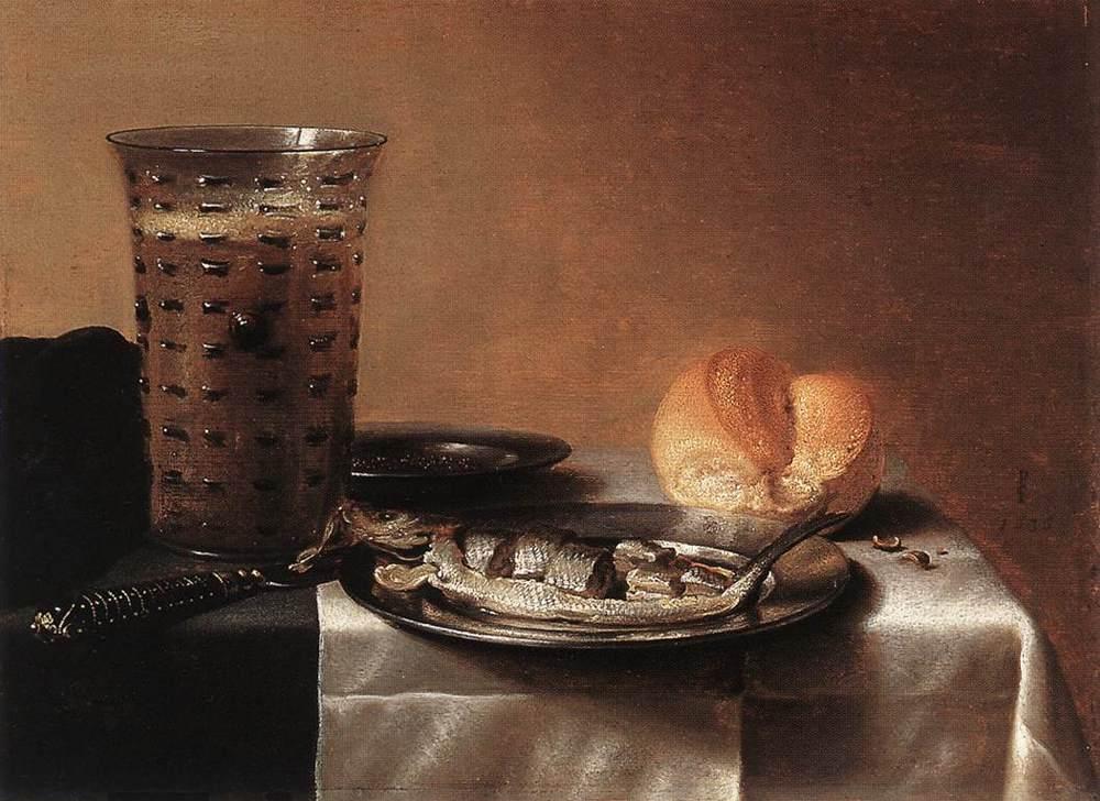 Pieter Claesz , Fish Still life (1636, Museum Boymans-van Beuningen, ...