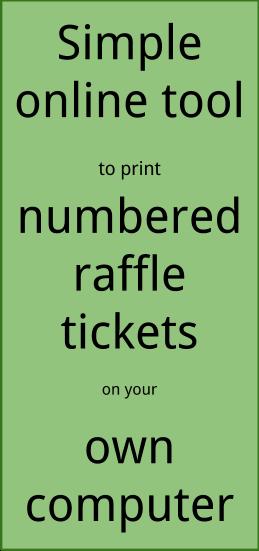 raffle ticket creator  print raffle tickets on your own computer