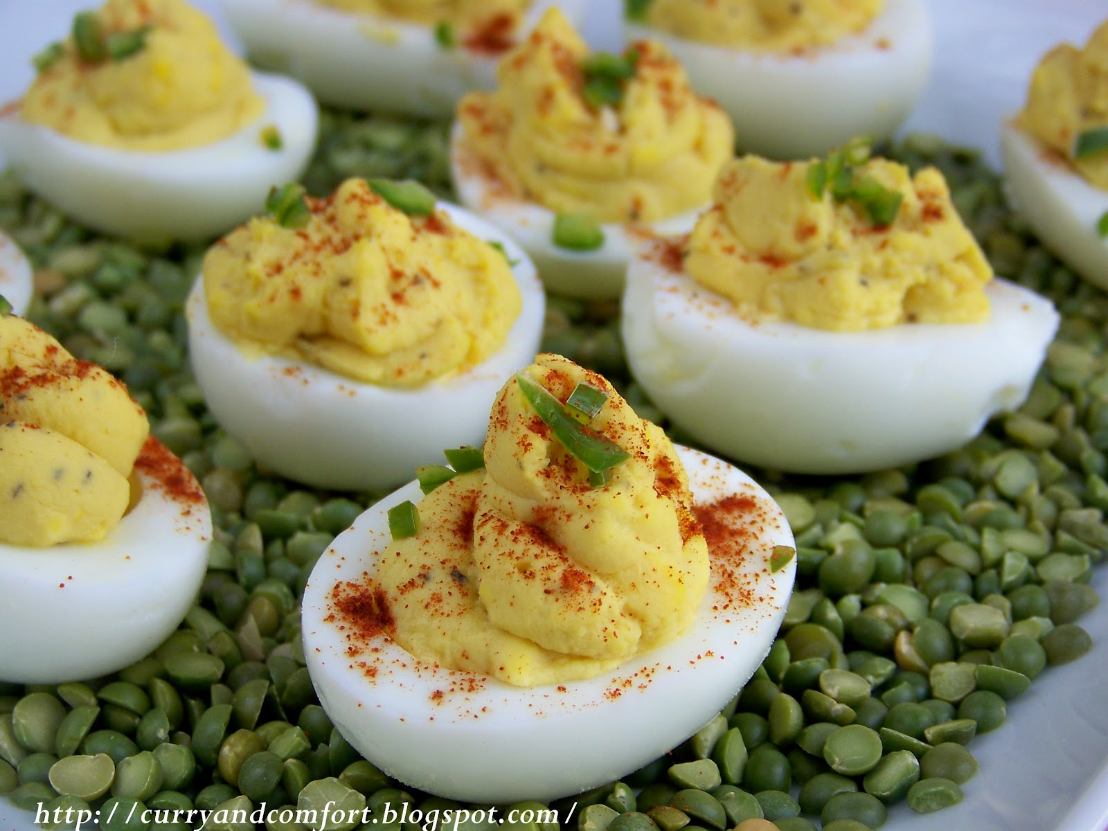 Curry and Comfort: Egg-cellent Honey Dijon Mustard Deviled Eggs